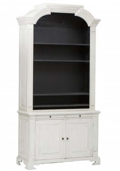 Black white bookcase