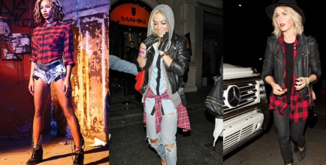 Beyonce Rita Ora Julianne Hough in plaid