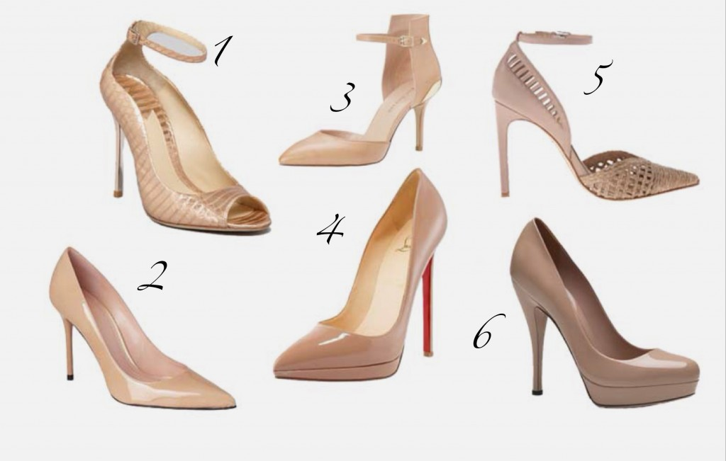 Nude pumps high heels