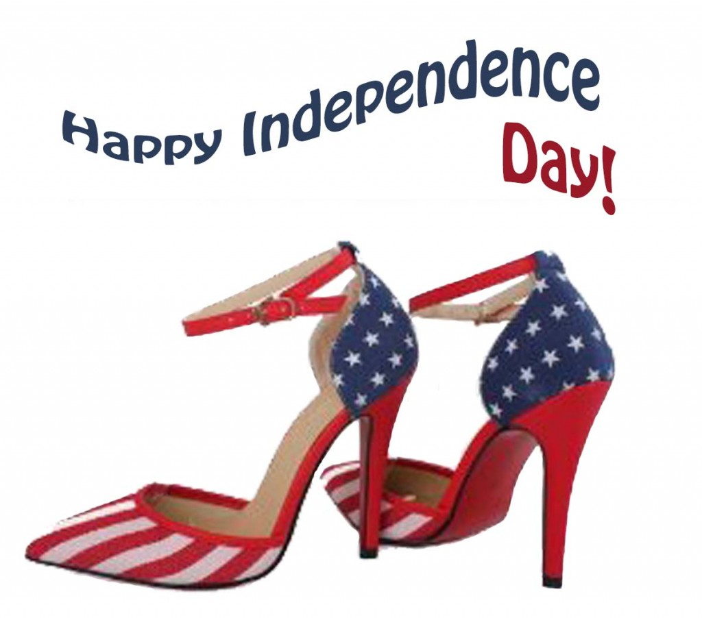 American flag independence day high heels pumps american woman text