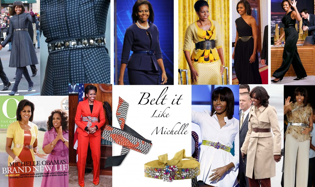Michelle Obama belt style fashion belts collage