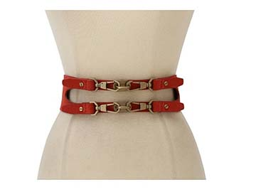 Shop Rachel Zoe Double Darren Clip Waist Belt