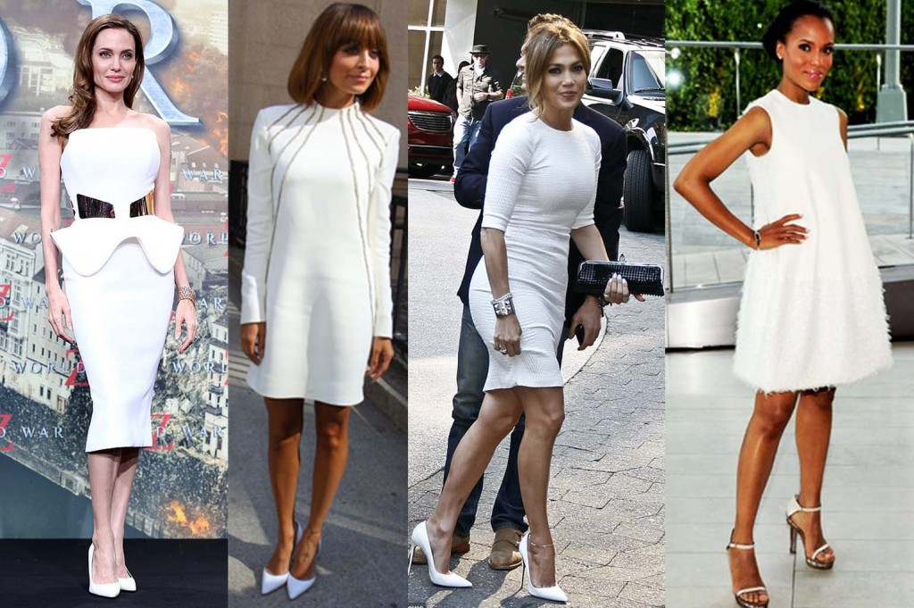 Angelina Jolie, Nicole Richie, Jennifer Lopez, and Kerry Washington look stunning in all white.