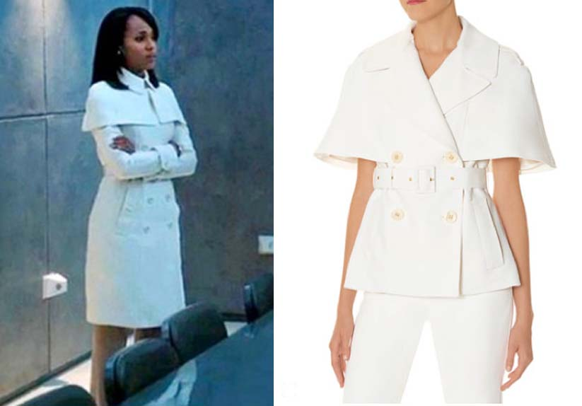 scandal inspired burberry the limited white cape coat