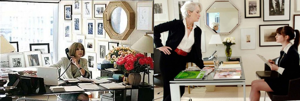 Anna Wintour vs Miranda Priestly's office