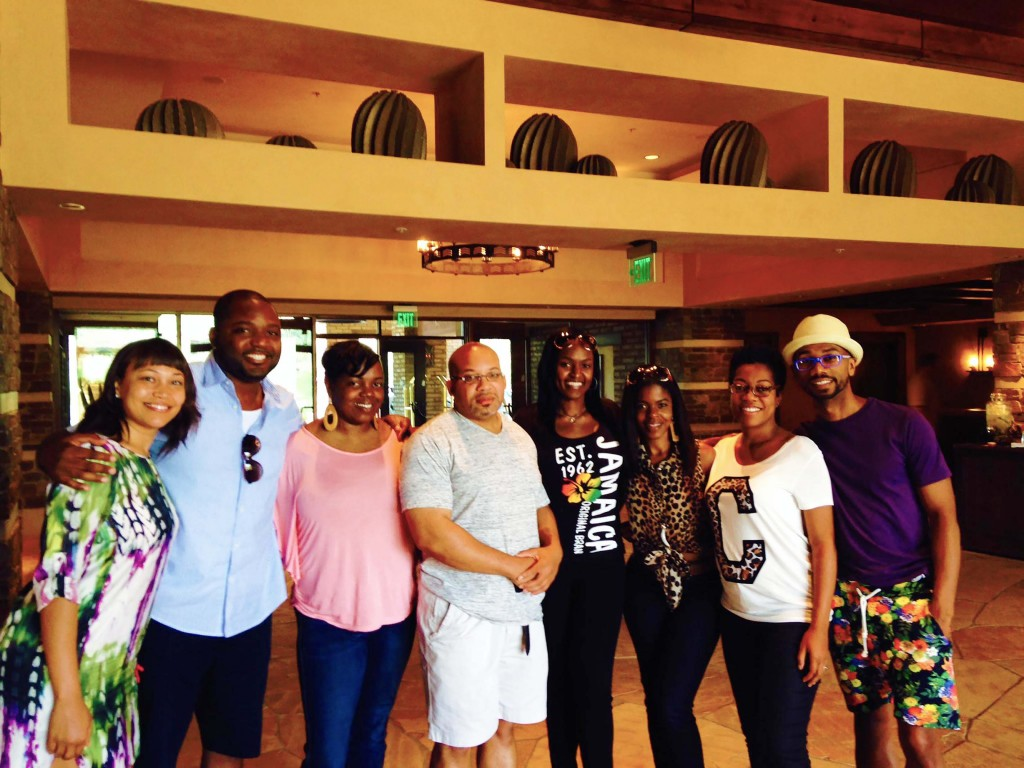 (From Right to Left: Darryl, Bonita, Me, Staceyann, Greg, Horasetta, Shadel, Shadel's wife Leander)