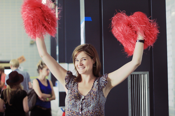 cheer yourself on Cheerleader in the office