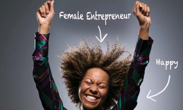 happy female business woman entrepreneur _text2