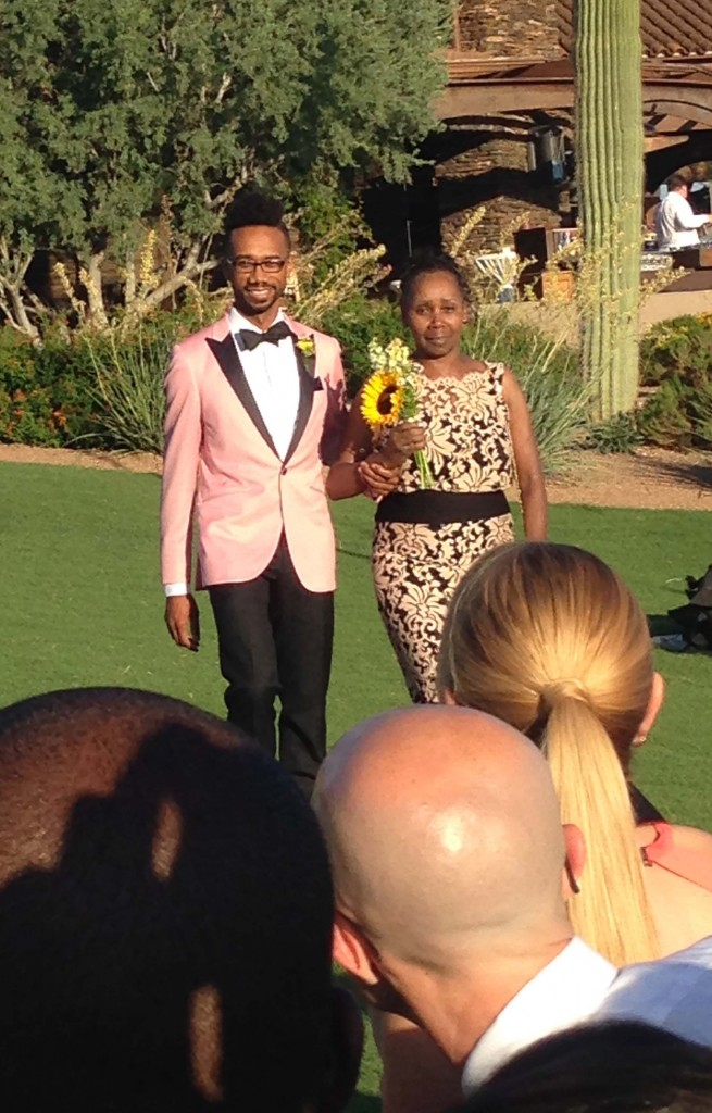 pink tuxedo gay wedding Arizona Ritz Carlton2