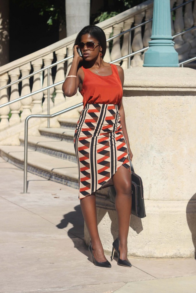 rust orange tank top ruched skirt IMG_edit_5508sml