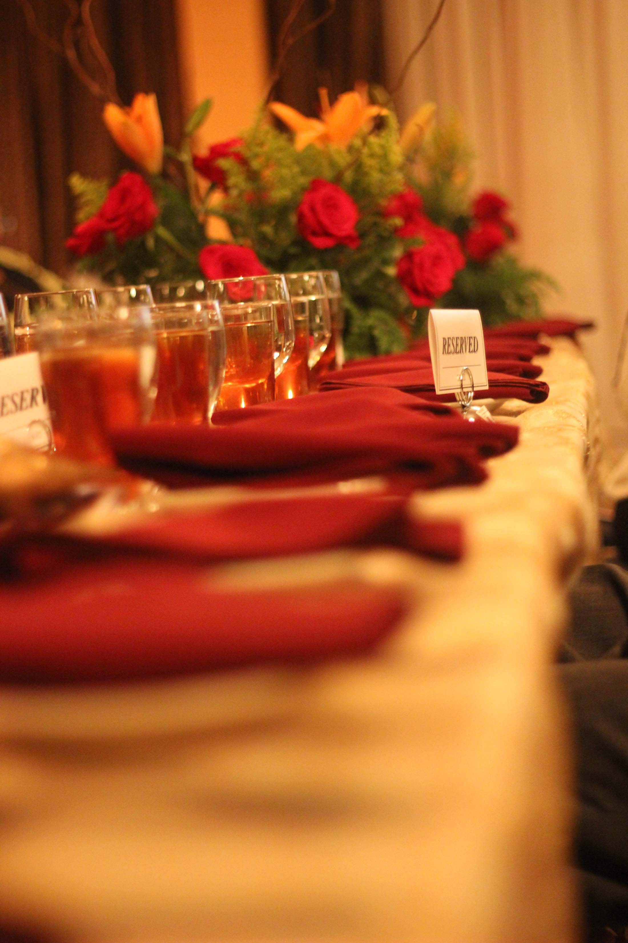 Charity Dinner Decor Table Setting