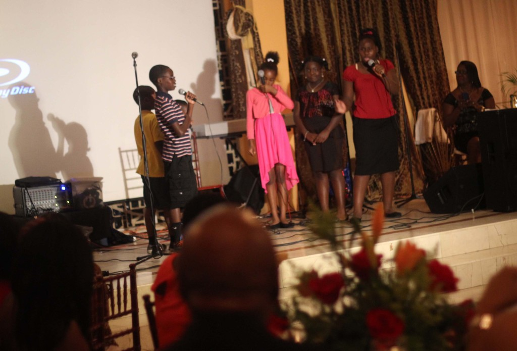 Charity dinner skit perforamnce event Borgne Haiti