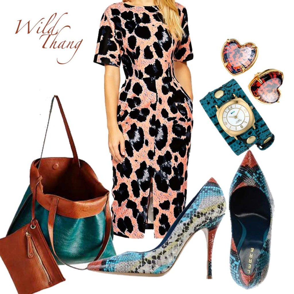 chic animal print theme outfit inspriation