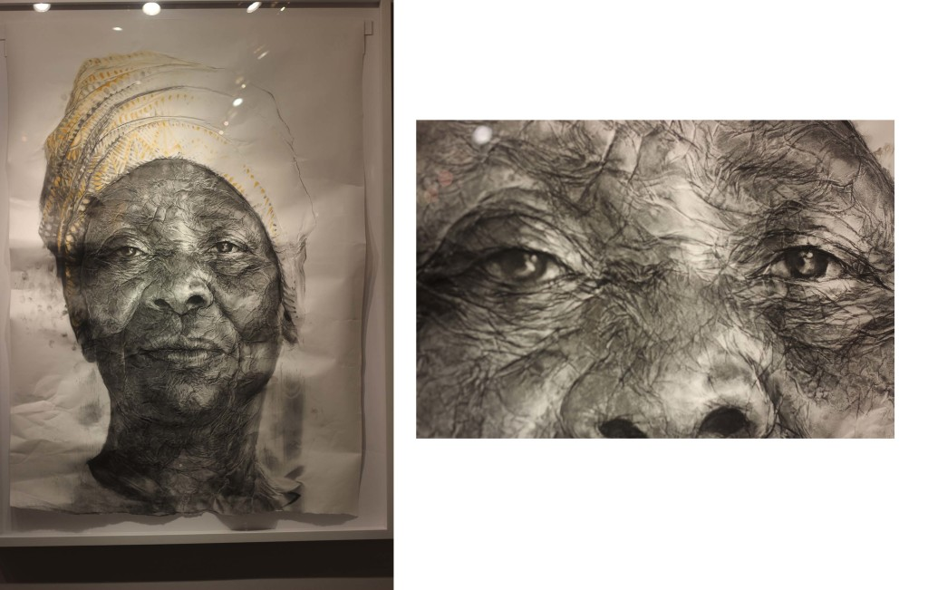Old woman Kerchief in Ghana Concept Art Fair Art Basel Miami 2014