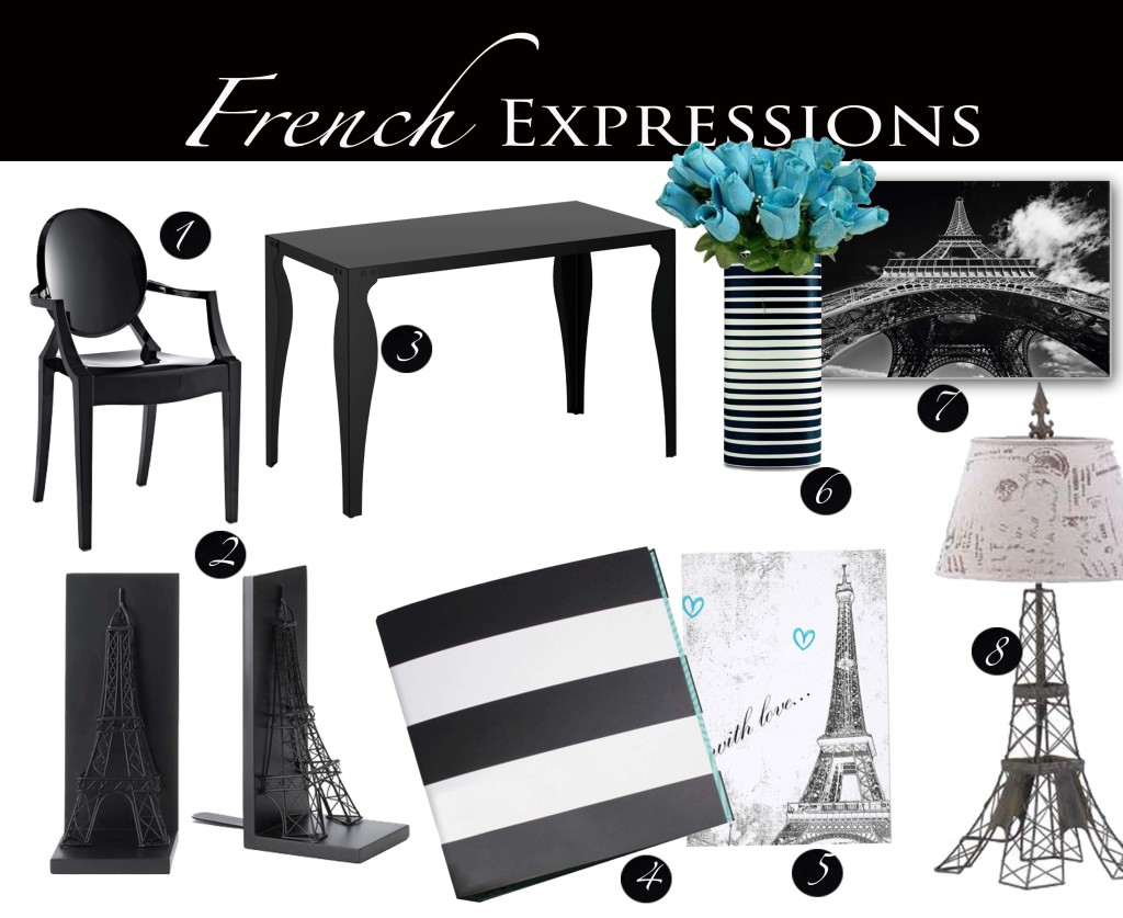 French Expressions Paris themed home office design and decor