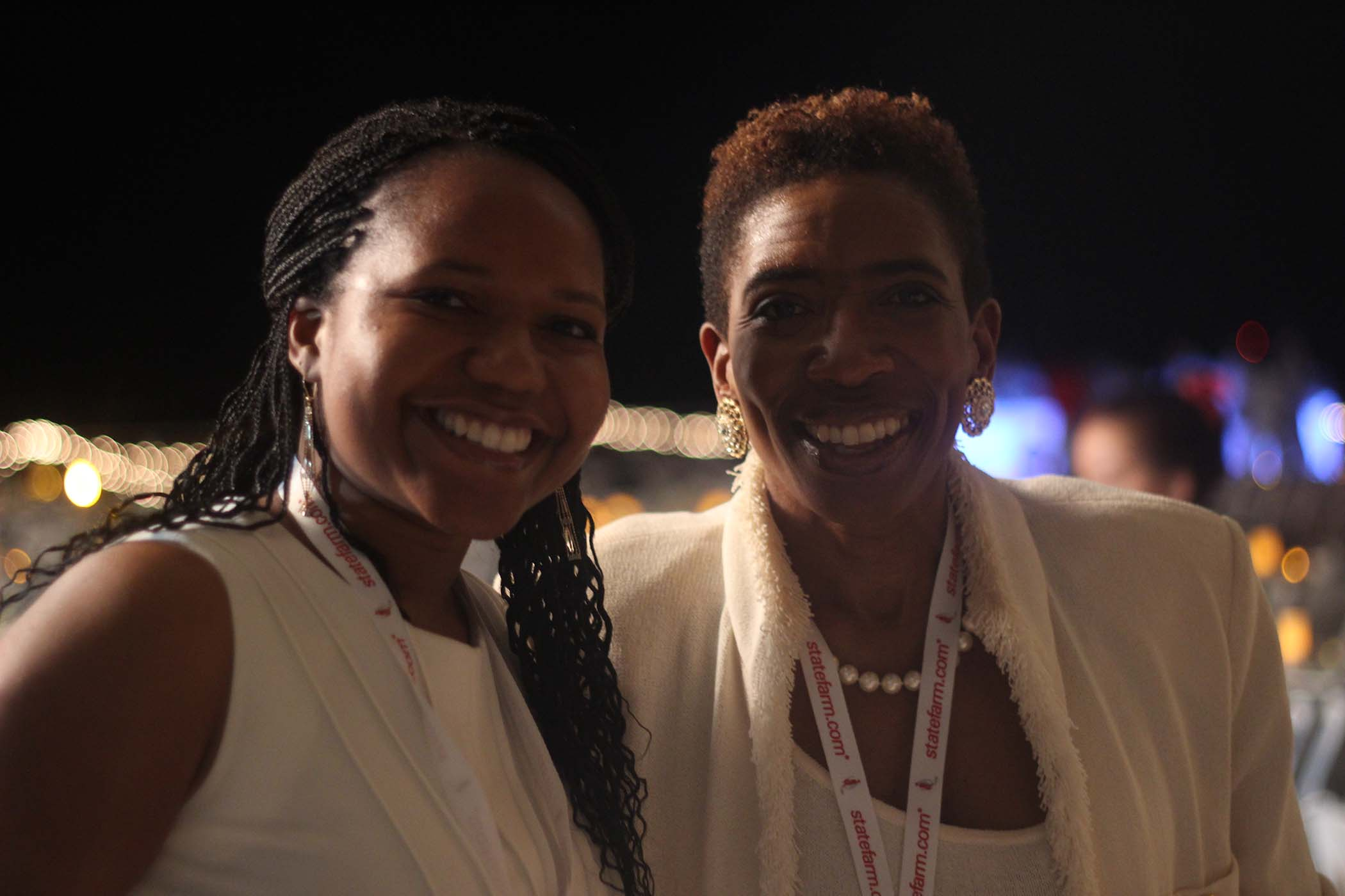 Carla Harris pictured with Nena Ugwuomo