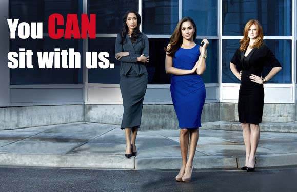You Can sit with us Cast of Suits USA Women