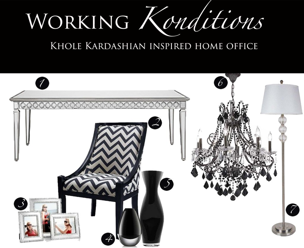 Khole Kardashian Home office collage
