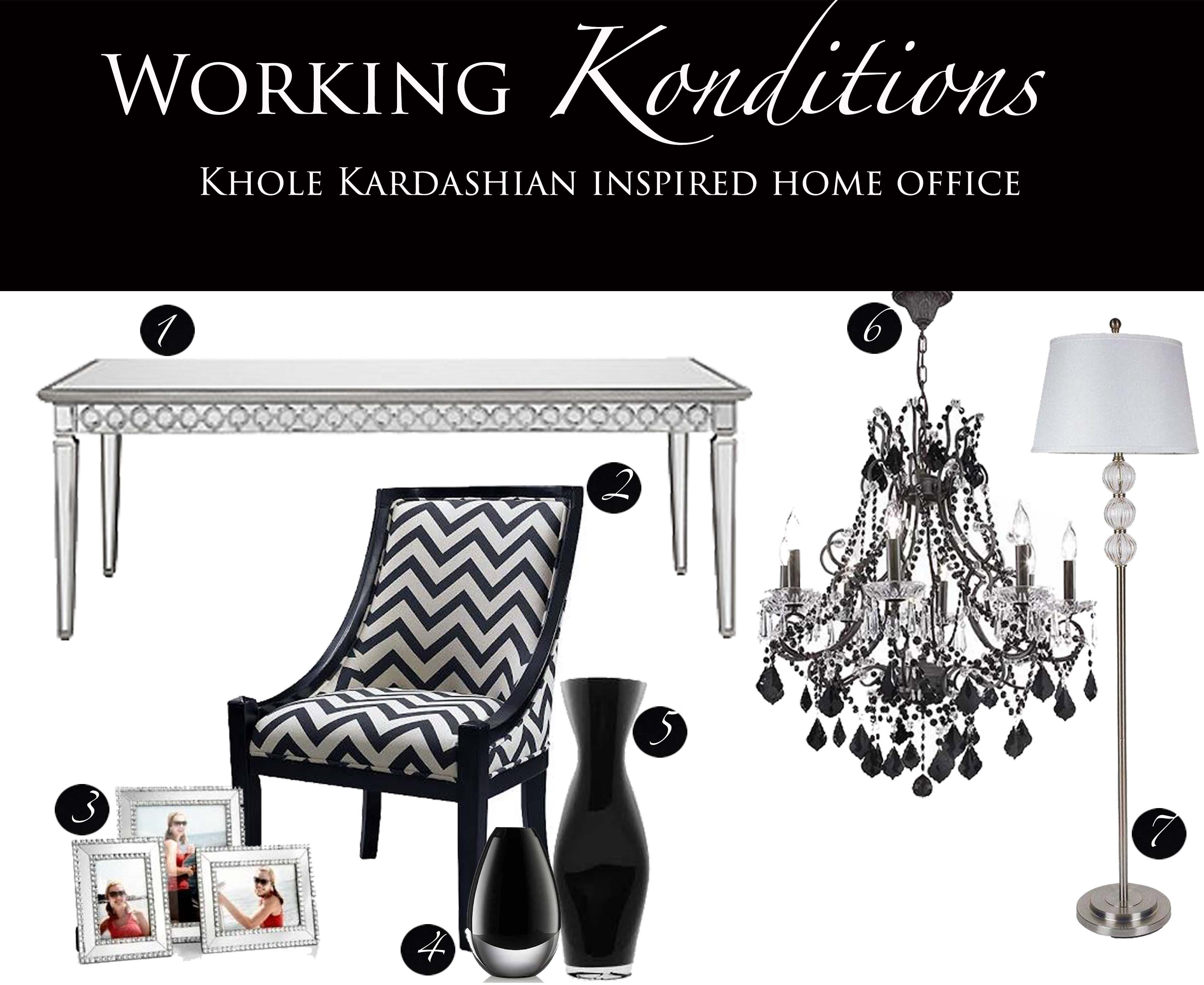 Working Konditions Khloe Kardashian Inspired Home Office