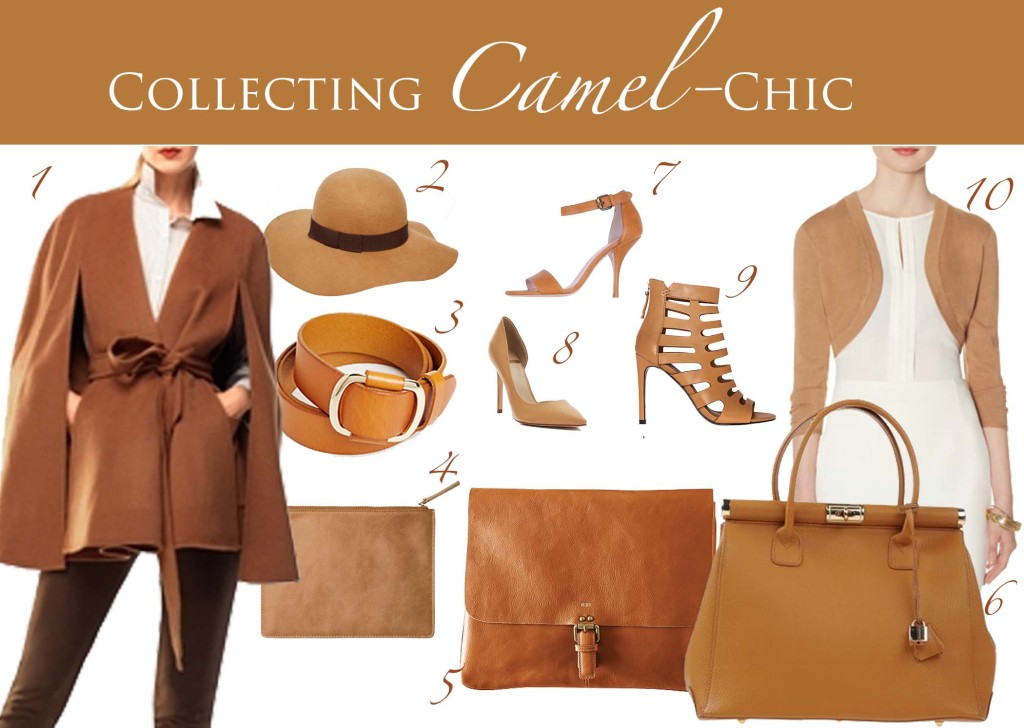 camel collection clothes and accessories collage header