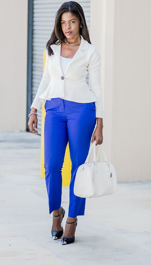 white peplum blazer purple ankle pants IMGP5262