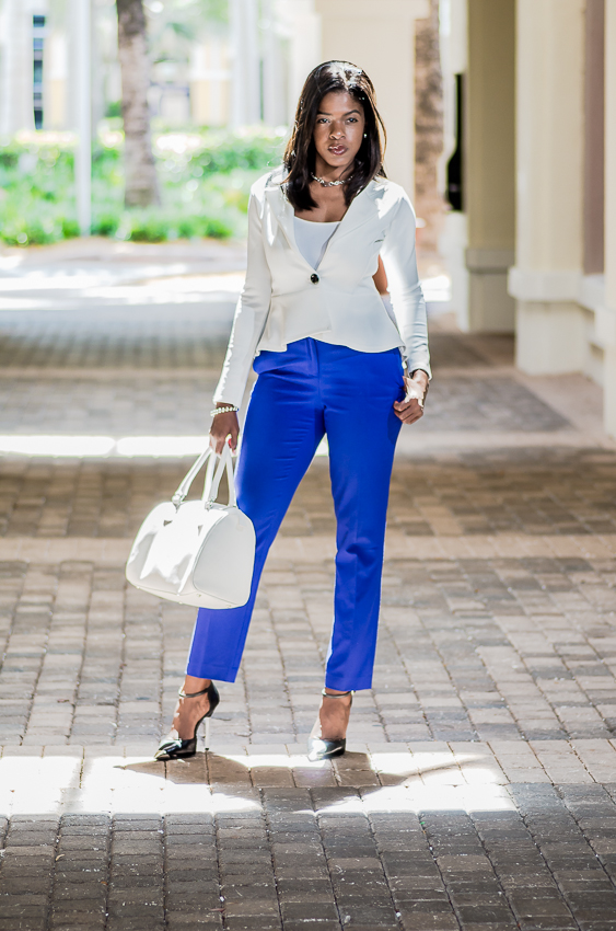 white peplum blazer purple ankle pants IMGP5300