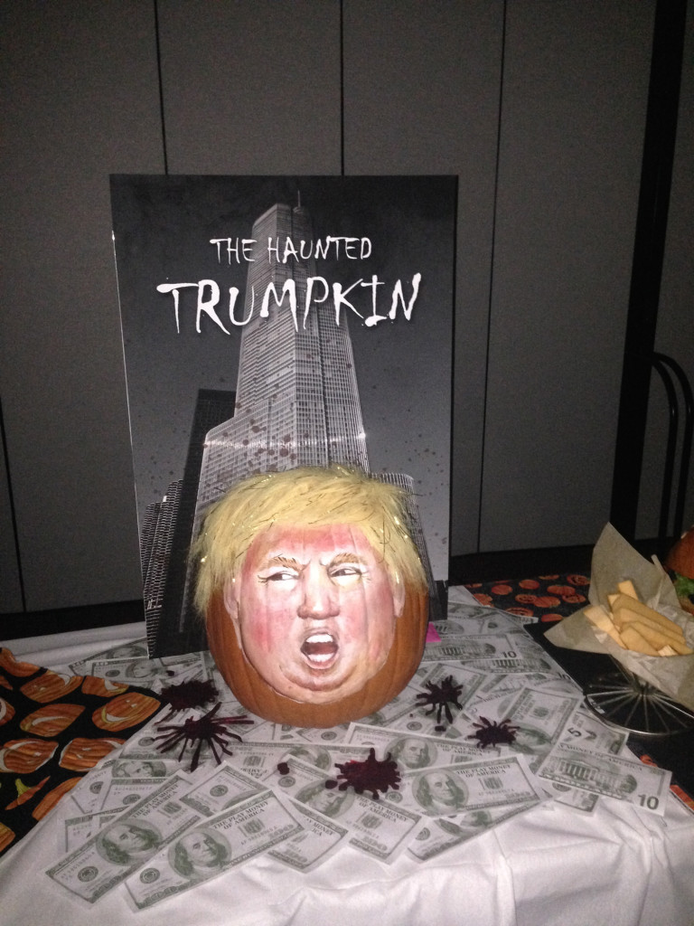 6903 Office Halloween pumpkin carving Trumpkin