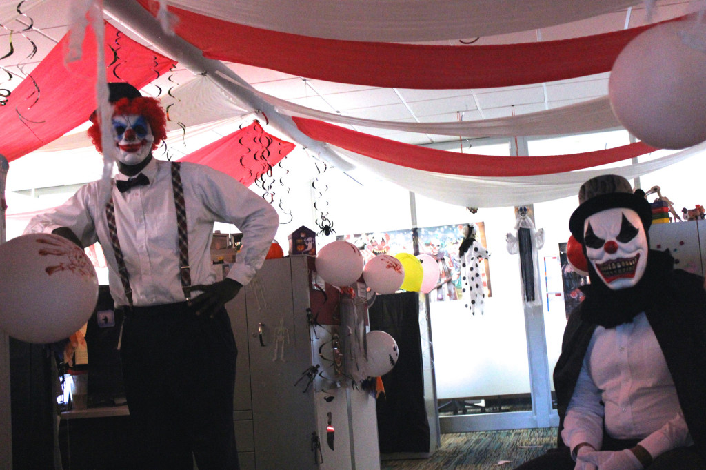 9688 Office Halloween clowns