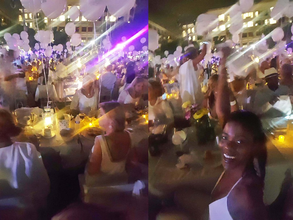 White Napkin Wave Diner en Blanc West Palm Beach