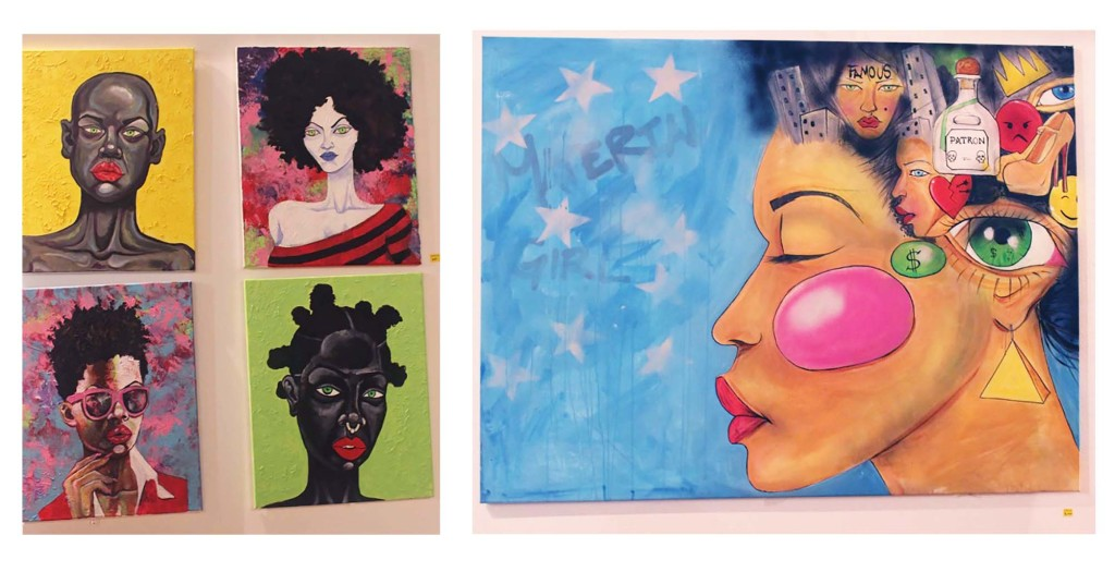 Simply Gallery Aaron Maybin paintings