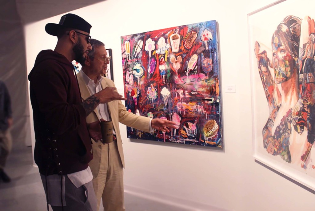 Swizz Beatz and Jeffrey Deitch No Commission Dean Collection Art Basel 2015 IMG_0165