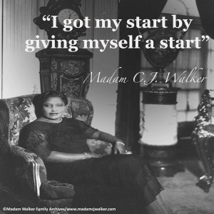 madam cj walker at Villa Lawaro with quote