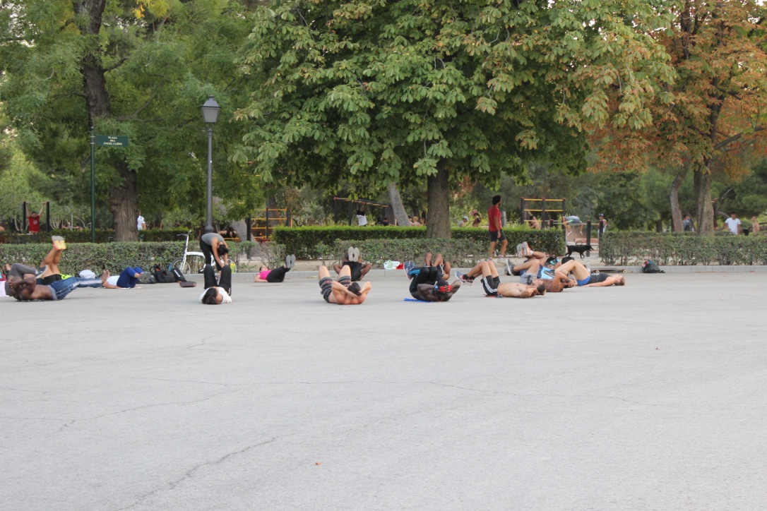 Fitness Class at Buen Retiro Park Madrid