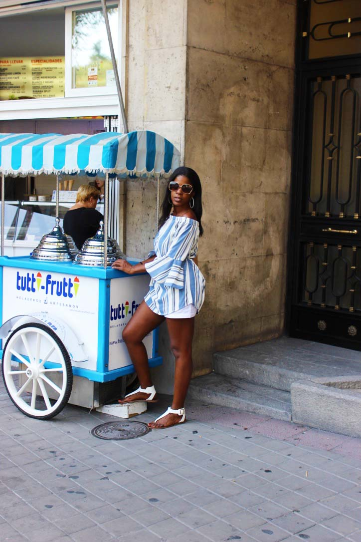 Ice cream cart Madrid 2