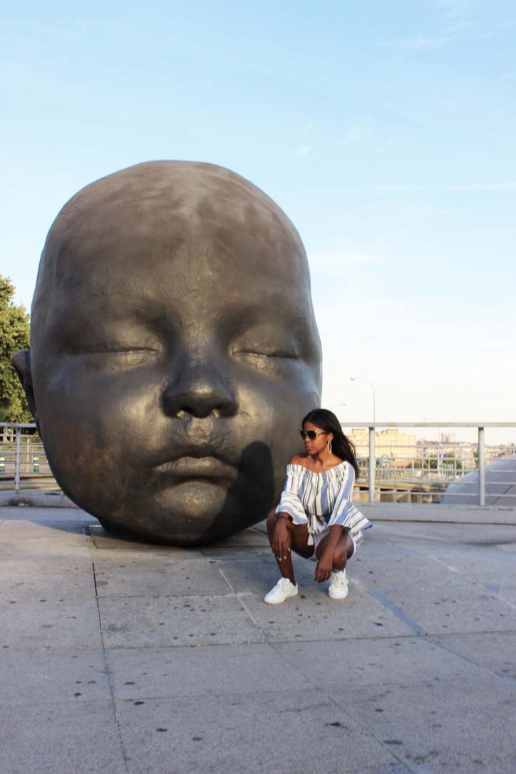 Me and Big Baby Statue Madrid