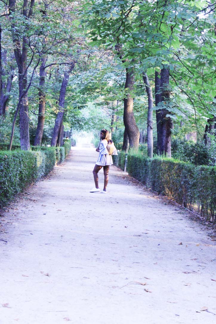 Posing on the Path at Buen Retiro Park Madrid IMG